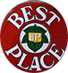 best place logo logo small